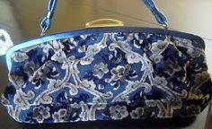 Vintage Chenille Handbag 1950s Purse Over by TallulahsVintage, $49.00
