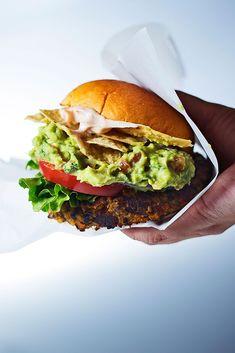 Must make a Gluten Free Version. GF panko and GF roll. Guacamole Veggie Burger