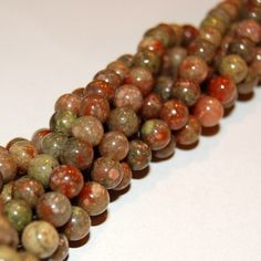 Autumn Jasper 6mm Rounds 16IN Strand by rlscreations on Etsy (Craft Supplies & Tools, Jewelry & Beading Supplies, Beads, autumn jasper, gemstone beads, 6mm round, brick warm red, evergreen, avocado green, gold orange, 16 in strand, semi precious, sand cream, olive, smooth)