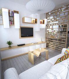 Écran plat mural – une option élégante pour le salon moderne ...