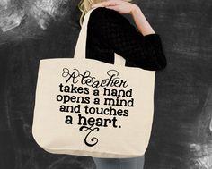 A Teacher Takes A Hand Tote Bag