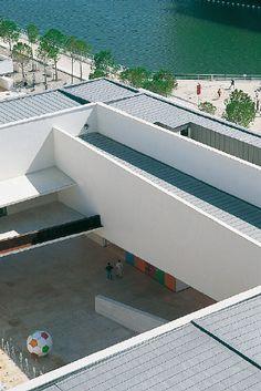 Knowledge of the seas Pavilion, Lisbon (Portugal) by Joao Luis Carrilho da Graça,  #Architecture #Roofing #QuartzZinc #Zinc #VMZINC #Project #Portugal #PublicBuilding
