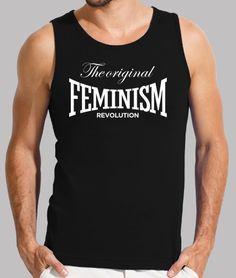 Camiseta feminista THE ORIGINAL FEMINISM REVOLUTION. Diseñada para apoyar el feminismo, movimiento social que pide para la mujer el reconocimiento de unas capacidades y unos derechos que tradicionalmente han estado reservados para los hombres. Sol's 150gr/m2: Camiseta feminista para enseñar cuerpazo. 100 algodón semi-peinado. Estilo clásico. Acabado acanalado y diseño tubular.