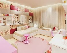 modern soft pink teenage girls bedroom design ideas - Room Design Ideas For Teenage Girl