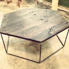 rebar pallet hex coffee table