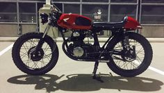 "My 1972 Honda CB175 Cafe Racer, ""Moxxi."""