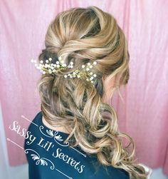 June bride???  This is a beautiful side braid that can easily be done with a Sassy Lil' Secrets 1 Piece Hair Extension #sassylilsecrets #diamondwire #hairextensions #1piece #beautifulhair #remyhumanhair #nodamage #easyoneasyoff www.sassylilsecrets.com