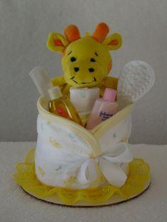 Single layer baby diaper cake