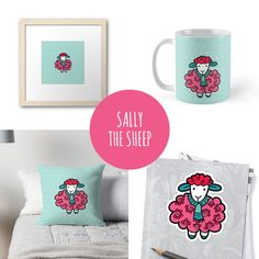 DIY Sally the Sheep gifts & products to match our printables and invitations