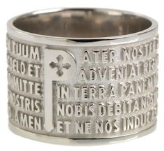 TUUM Made in Italy  (Our Father prayer in a ring)