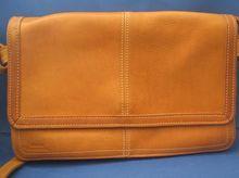 Stone Mountain British Tan Leather Messenger Style Purse