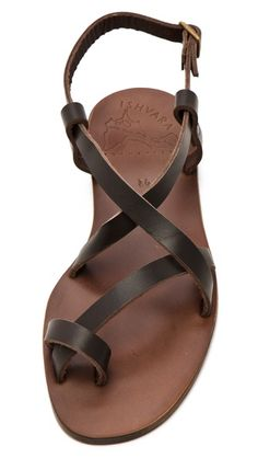 ISHVARA Ibiza Flat Sandals.  I used to have these exact sandals 20 years ago from volume shoe source!