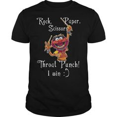 Check this The Muppets Rock Paper Scissors Throat Punch I Win T-Shirt Gift Trending Design T Shirt . Hight quality products with perfect design is available in a spectrum of colors and sizes, and many different types of shirts! Batman T Shirt, Batman Vs, Superman, Funny Shirts, Tee Shirts, Rock Paper Scissors, Pride Shirts, I Win, Sweater Hoodie