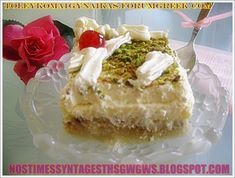Greek Sweets, Vanilla Cake, Sweet Tooth, Cheesecake, Desserts, Recipes, Food, Tailgate Desserts, Cheese Cakes