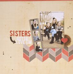 Silhouette Blog: scrapbook page