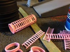 Hair rollers ideal when chopped up for use as ladders and the ends can be piping etc