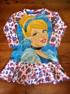 Cinderella Upcycle tee dress. www.facebook.com/stewiecakesboutique