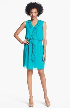 Ivy & Blu for Maggy Boutique Ruffle Front Chiffon Dress available at #Nordstrom