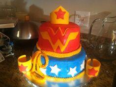 "Photo 1 of 38: Superhero / Birthday ""Wonder Woman (Shabby Chic)"" | Catch My Party"
