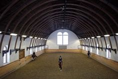 Barrel arch riding arena
