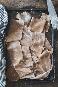 The Bojon Gourmet: Chestnut Flour Ravioli with Chèvre + Artichoke in Parmesan Pea Broth {gluten-free} Gnocchi, Good Food, Yummy Food, Tasty, Pasta Recipes, Cooking Recipes, Spiralizer Recipes, Lunch Recipes, Bojon Gourmet