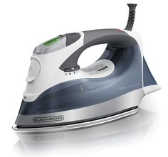 Black & Decker Auto-Off Digital Advantage Iron Steam Iron Reviews, Best Steam Iron, Best Iron, Home Design, How To Iron Clothes, Stainless Steel Water Bottle, Water Tank, You Are Awesome, Autos