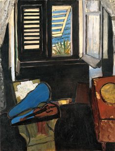 Henri Matisse / Interior with a Violin (Room at the Hôtel Beau-Rivage) / 1918 / Oil on canvas