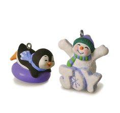 2016 VIP Frosty Fun For You VIP Hallmark Keepsake MIniature Ornament - X.