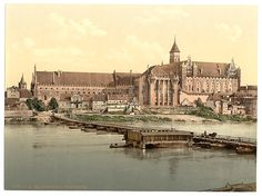 A collection of old postcards of Malbork, formerly Marienburg, in Poland. Malbork Castle, Germany And Prussia, Local History, Old Postcards, Warsaw, Eastern Europe, Old World, The Past, Around The Worlds