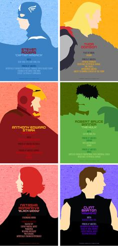 Minimalist #Avengers by tifferini-graphic...