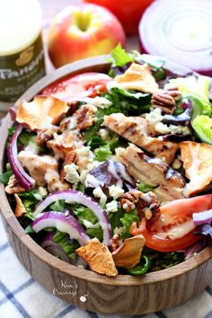 Copycat Panera Bread Fuji Apple Chicken Salad- a fresh flavorful salad that tastes even more delicious than the original!