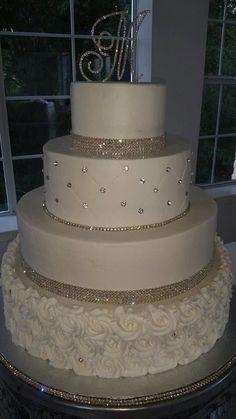 Bling Wedding Cakes, Fall Wedding Cakes, Wedding Cake Rustic, Wedding Cakes With Cupcakes, Elegant Wedding Cakes, Wedding Cakes With Flowers, Beautiful Wedding Cakes, Wedding Cake Designs, Wedding Themes