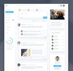 Linkedin Redesign designed by Willionaire . Connect with them on Dribbble; Web Dashboard, Ui Web, Dashboard Design, Student Dashboard, Web Ui Design, Flat Design, Graphic Design, Ui Design Inspiration, User Interface Design