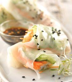 Rollos de hoja de arroz... ¡Delicioso, ligero y saludable!