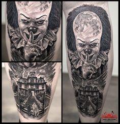IT Tattoo by Mehdi Rasouli broken tooth tattoos Tooth Tattoo, State Tattoos, Dali Tattoo, Fresh Tattoo, Lijiang, Professional Tattoo, Tattoo Studio, Tattoos For Women, Black And Grey