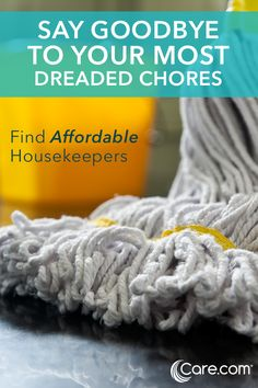 Hand off your most dreaded chores to a housekeeper on Care.com. Sign up for an account and create a job listing that sums up your housekeeping needs. Interested candidates will contact you. Approximately 1 out of 3 people spend 10 hours or more a week doing household chores. Don't be one of them! Join Today!