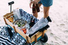 wagon beach picnic