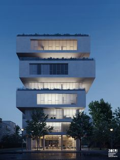 Stefano Boeri Architetti has designed a new offset multi-family housing complex in Albania. Architecture Today, Light Architecture, Amazing Architecture, Interior Architecture, Balcony Lighting, Facade Lighting, Building Exterior, Building Design, Design Your Own Home