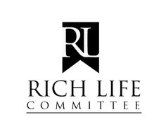 logo design for Rich Life Committee by thelogoboutique.com Map Logo, Black And White Logos, Rich Life, Atari Logo, Logo Design, Company Logo, Type