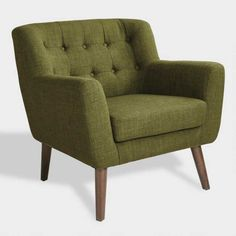 OSP Home Furnishings Mill Lane Chair and Loveseat Set in Green Fabric with Coffee Legs per Carton) - The Home Depot Living Room Accents, Living Room Chairs, Living Room Furniture, Furniture Sets, Home Furniture, Living Area, Retro Furniture, Furniture Stores, Lounge Chairs