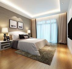Miegamajame svarbu, kad būtų bendras apšvietimas ir šviesos šaltinis prie lovos.
