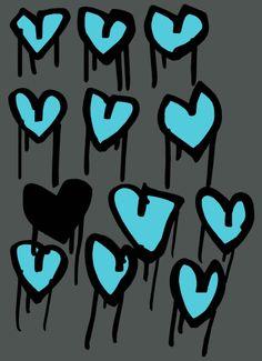 Dripping Hearts print - Sharon Campbell Art Print / Illustration www.cargocollective.com/sharoncampbell Heart Print, My Works, Hearts, Illustration, Design, Illustrations, Design Comics