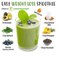 Healthy Juice Recipes, Green Smoothie Recipes, Healthy Juices, Smoothie Drinks, Smoothie Diet, Healthy Smoothies, Healthy Drinks, Healthy Snacks, Morning Smoothies