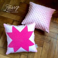 Pink star baby cushion
