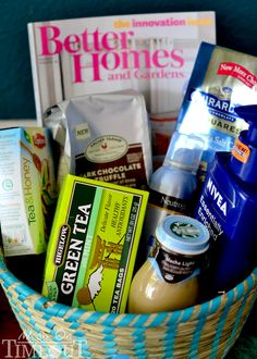 Gift Basket Ideas Make Yourself | Might as well make yourself up a basket too – don't forget the ...