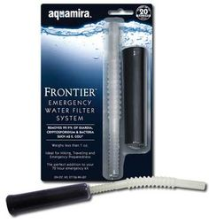 The Frontier Emergency Water Filter System is ideal for hiking, travel, and emergency preparedness. It is the perfect addition to your 72 hour emergency kit. One unit will filter up to 20 gallons of water. Disaster Preparedness, Survival Prepping, Survival Gear, Survival Essentials, Survival Stuff, Urban Survival, Camping Survival, Water Survival, Hurricane Preparedness