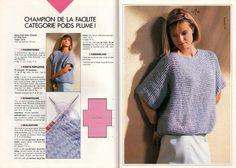 tricoter un pull tube