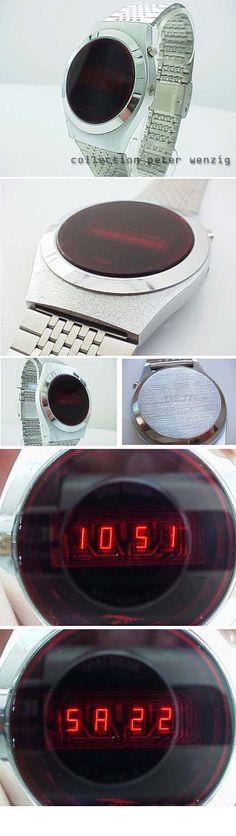 Beta LED Watch Led Watch, Watches, Vintage, Wristwatches, Clocks, Vintage Comics