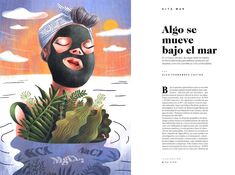 Full page editorial illustration / La Factoría Prisa designed by Carolina Cancanilla. the global community for designers and creative professionals. Illustration, Editorial, Creative, Art, Craft Art, Illustrations, Kunst, Gcse Art, Art Education Resources