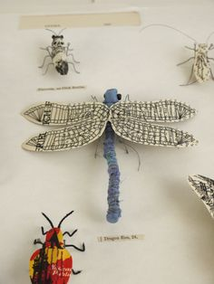 Artist Kato Kato creates nature inspired sculpture using recycled materials. She makes plants and insects from recycled paper and textiles using stiching and embroidery. Origami, Atelier D Art, Bug Art, Bug Crafts, Insect Art, Bugs And Insects, Middle School Art, Art Classroom, Soft Sculpture